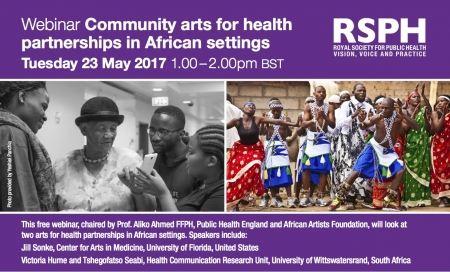 Webinar community arts for health partnership in African settings Image